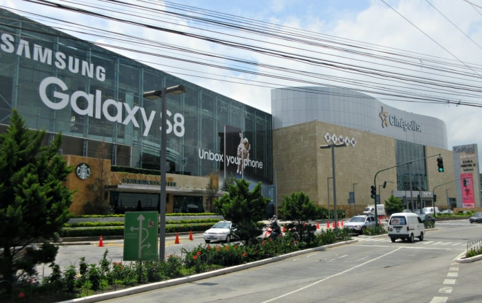 A picture of the Oakland Mall and Starbucks in Guatemala City where I waited for my motorcycle to be repaired.